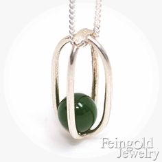 May Birthstone Green Taiwan Jade  Sterling by feingoldjewelry
