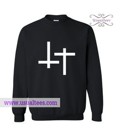 Inverted Cross Sweatshirt from usualtees.com This sweatshirt is Made To Order, one by one printed so we can control the quality.