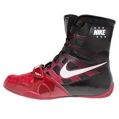 the best attitude 9b1b7 43f09 NIKE HYPERKO BOXING BOOTS  Red White Black Boxing Boots, Wrestling Shoes,