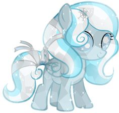 This is Crystal she is Ellie's little sister and has the same powers as her. Please adopt she is a really kind filly