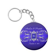 Grand Duchess Blue Monogram Teal Keychain