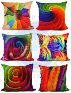 3D-Cushion-Rainbow-Pencil-Rose-Abstract-Maze-Faux-Suede-17-034-X17-034-Filed-Covers