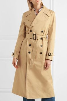 Joseph - Townie Double-breasted Cotton Trench Coat - Beige - FR42