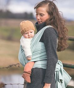 Another great find on #zulily! Aqua Blue Herringbone Baby Sling by Poe Wovens #zulilyfinds