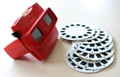 View-Master ~ My brother & I were quite the World Travelers with our View-Master. We had stacks of disks from birthday and holiday gifts. Local attractions even had a View-Master Disks to sell as a souvenir.