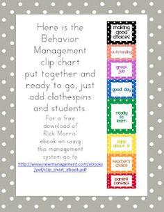 First Class Teacher: Classroom Behavior Management Tools FREEBIE
