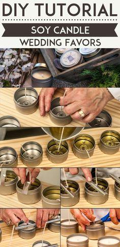 Fun and Simple Homemade Wedding Favors | DIY Soy Candle by DIY Ready at http://diyready.com/24-diy-wedding-favor-ideas/