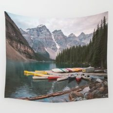 Wall Tapestry featuring Lake Moraine by Caleb Troy