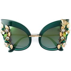Dolce & Gabbana embellished cat eye sunglasses (26 570 ZAR) ❤ liked on Polyvore featuring accessories, eyewear, sunglasses, green, dolce gabbana sunglasses, cat-eye glasses, embellished cat eye sunglasses, embellished sunglasses and green glasses