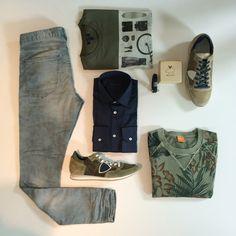 casual men look Boss orange, Philippe Model, pig & hen, scotch and soda | Wellens Men