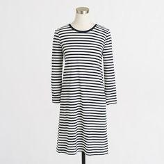 Factory long-sleeve stripe tee dress #Basics