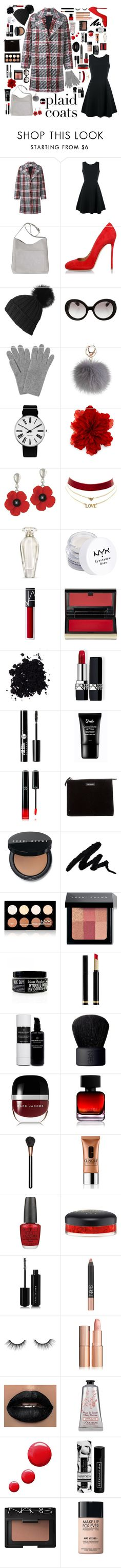 """""""Plaid"""" by asegly ❤ liked on Polyvore featuring Carven, Emporio Armani, Dsquared2, Black, Prada, L.K.Bennett, Rosendahl, Gucci, Charlotte Russe and Victoria's Secret"""