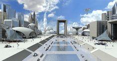 Breathtaking Future City Concept Art