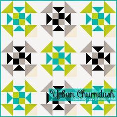 Piece N Quilt: Urban Churndash Sew-Along - Finishing the Quilt