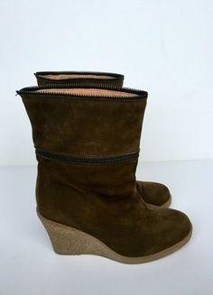 Kaufe meinen Artikel bei #Kleiderkreisel http://www.kleiderkreisel.de/damenschuhe/stiefeletten/136922582-samsoe-samsoe-stiefeletten-oliv-wildleder-wedges-stiefel-ankle-boots-neu