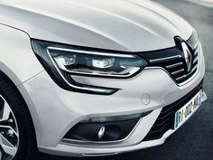 Элементы дизайна седана Renault Megane 2017 / Рено Меган 2017. Передняя часть