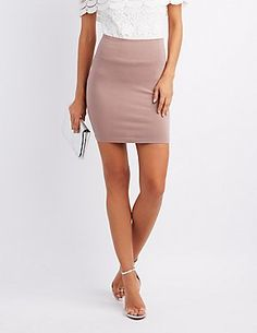 cefa60499 Bodycon mini skirt Skirt Leggings, Pants, Office Outfits, Stretch Skirts,  Skort,