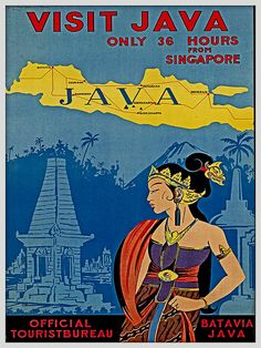 Java Indonesia Travel Poster Wall Decor print sizes available) Old Posters, Retro Poster, Poster S, Vintage Travel Posters, Poster Prints, Vintage Airline, Historic Posters, Poster City, Art Print