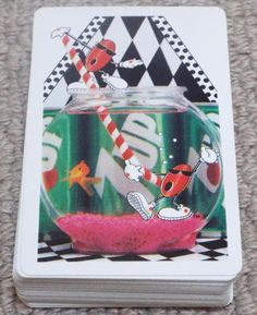 SEVEN UP PACK OF PLAYING CARDS - PIQUET / BEZIQUE