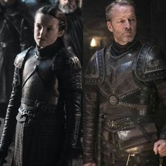Image may contain: 2 people, people standing Lady Mormont, House Mormont, Winter Is Here, Winter Is Coming, Bear Island, Game Of Thrones Poster, Game Of Thones, Female Warriors, House Stark