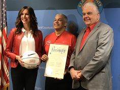 "Clark County Commission Chairman Steve Sisolak presented a proclamation to UNLV Men's Basketball Coach Marvin Menzies and UNLV Athletic Director Desiree Reed-Francois declaring Wednesday                                       ""UNLV Rebel Red Day"" On Wednesday, the UNLV basketball team will be playing rival University of Nevada, Reno."
