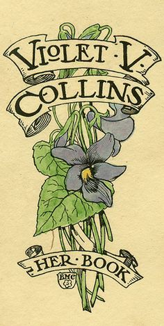 Bookplate for Violet V. Collins