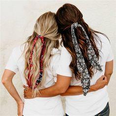 braids - Hair Bandanas New Styles Fine Hair, Wavy Hair, Boho Stil, Festival Hair, School Looks, Scarf Hairstyles, Easy Hairstyles, Cute Bandana Hairstyles, Layered Hairstyles