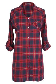 #CupShe - #CUPSHE Cupshe Good To Love Plaid Casual Shirt Dress - AdoreWe.com