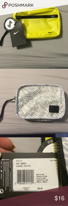 Reversible Nike bag New reversible Nike clutch bag with zipper and strap Nike Bags Clutches & Wristlets
