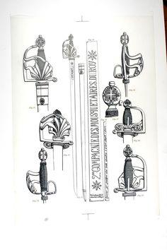 Fortes-épées des 2 compagnies de mousquetaires de 1758 à 1776.