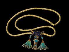 Clasp of Princess Sathathor. Gold, lapis lazuli, carnelian, turquoise; 12th Dynasty, Middle Kingdom; Dashur; Egyptian National Museum, Cairo, Egypt