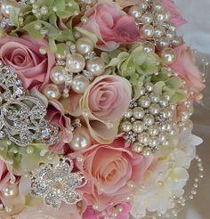ENGLISH GARDEN Bridal Brooch Bouquet by Elegantweddingdecor, $365.00