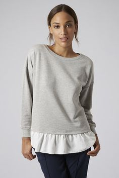Pleated hem sweater