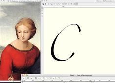 Reflection Alternate Letters derived from Raffaello painting #font #fontdesign #typeface #letters #painting #form #renaissance