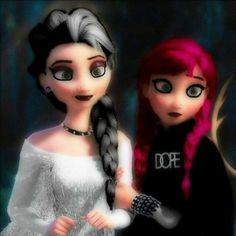 Frozen punk style :D Soooo cute! Love it!