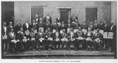 Members of the Hiram Grand Lodge, Free and Accepted Masons, Wilmington, Delaware. 1923