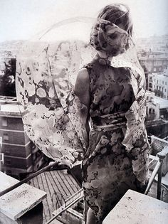 Fashion photo by Franco Rubartelli for Belezza magazine, April 1964    From the book: ITALIAN EYES - Italian Fashion Photographs from 1951 to Today