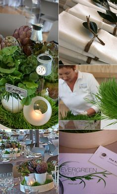 Form Over Function - corporate event styling. Garden themed  styling for fundraising dinner.