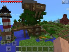 Minecraft Tree, Minecraft App, Minecraft Houses Survival, Minecraft Houses Blueprints, Minecraft Projects, House Blueprints, Minecraft Buildings, Minecraft Modern, Minecraft Bridges