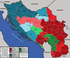 Religious map of kingdom of Yugoslavia