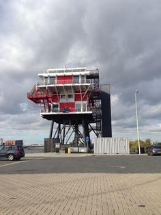REM eiland. Restaurant at former pirate broadcast station in Amsterdam harbour.