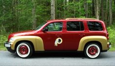 Check out this awesome burgundy and gold car! (photo courtesy George Spring) #HTTR