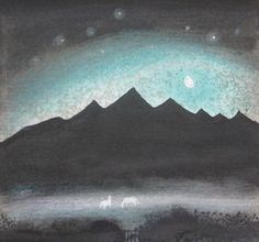 Flora McLachlan - Moon and Mist Winter Moon, Etching Prints, Old Oak Tree, Collagraph, If Rudyard Kipling, Visual Diary, Stage Design, Beautiful Paintings, Moonlight