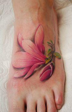 Single-Cherry-Blossom-Tattoo-On-Foot Elegant Foot Tattoo Designs For Women Subtle Tattoos, Great Tattoos, Sexy Tattoos, Beautiful Tattoos, Body Art Tattoos, Tribal Tattoos, Tatoos, Tattoos Skull, Awesome Tattoos
