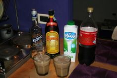 Colorado Bulldog Drink Recipe.  Ingredients & Measurements:  1 oz. Vodka  1 oz. Kahlua  3 oz. Milk  Splash of Coca Cola  How to make it:In a shaker pour vodka, kahlua, and milk. Shake and pour into a smaller glass and add a splash of cola.