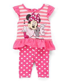Look what I found on #zulily! Minnie Mouse Pink Tee & Leggings - Infant, Toddler & Girls #zulilyfinds