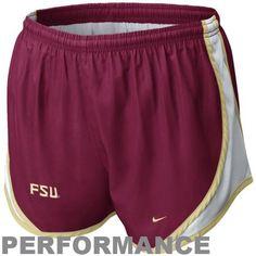 5e40ede7fd  26.99 Nike Florida State Seminoles (FSU) Ladies Tempo Performance Shorts -  Garnet
