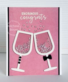 Enormous congrats champagne glasses - Paper Smooches: 2.1