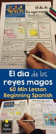 Reyes Magos - 60 min lesson for Beginning Spanish - powerpoint and graphic organizers - by Sol Azúcar