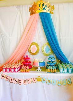 Gender Reveal Princess or Prince Theme